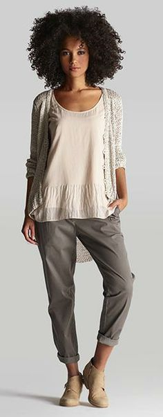 khakis with a fresh point of view #eileenfisher