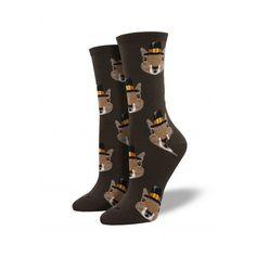 Pilgrim Teddy Bear Thanksgiving Socks Casual Crew 9-11 Women/'s Novelty Hemp Tan