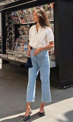 ♥ 63 best and stylish business casual work outfit for women 1 Spring Outfit Women, Summer Work Outfits, Spring Outfits, Sweatpants Outfit, Outfit Jeans, Jean Outfits, Casual Outfits, Fashion Outfits, Skirt Fashion