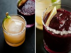 Margarita mix- Instead of the lame sweet and sour mixes. Plus grapefruit margarita and blueberry margarita