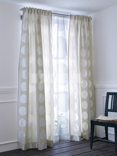 IKEA Ninni Rund curtains - deciding on these for the basement