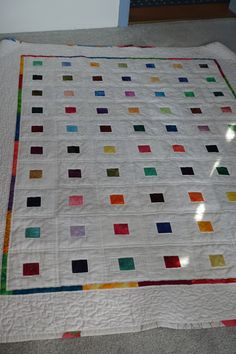 Weißwäsche/Scrapy Quilt 150x180 cm