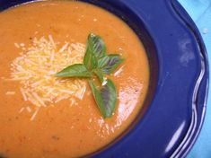 Roasted Tomato Soup - great way to use up some veggies.  Roasted some red bell pepper as well and used half and half in place of some of the broth.  So yummy and so healthy!!