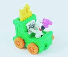 "Snoopy Peanuts Happy Birthday Pipe Organ Train 2 1/2"" 1972"