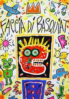 DONZELLI BRUNO - FACCIA DI BASQUIAT - Serigrafia - 40 x 60 cm