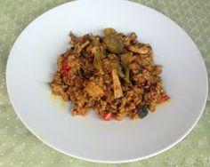 Arroz con setas y verduras