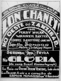 1928 - WEST OF ZANZIBAR - Tod Browning - (JORNAL DO BRASIL, Thursday,  April 17, 1930, Rio de Janeiro, Brazil)