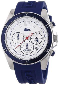 montre lacoste blanc et bleu G Shock Watches, Watches For Men, Daniel Wellington, Tommy Hilfiger, Omega Seamaster 300, Lacoste Sport, Baskets, Watch Brands, Rolex