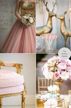 Pink + gold wedding ideas