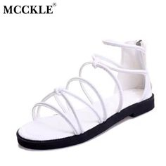 12.55$  Buy here - http://alil1y.shopchina.info/go.php?t=32799069256 - MCCKLE Hot Sale 2017 Women Flat Sandals Female Casual Comfort Sandals Women Fashion Summer Flat Sandals Shoes 12.55$ #shopstyle