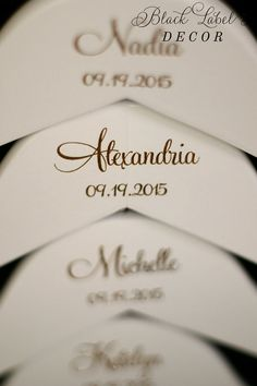 Engraved white bridal party hangers by Black Label Decor