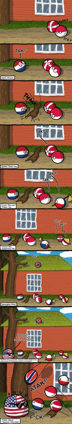 Tak | Polandballs Countryballs I speak Dutch, so this was quite funny