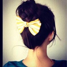 yellow bow <3