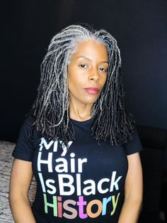 Locs have been worn for various reasons and many cultures were locks. Sisterlocks, Love Your Hair, My Hair, Beautiful Dreadlocks, Women With Dreadlocks, Grey Hair Inspiration, Curly Hair Styles, Natural Hair Styles, Grey Hair Don't Care