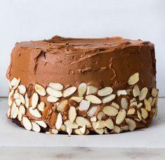 Buttermilk Chocolate Almond Cake