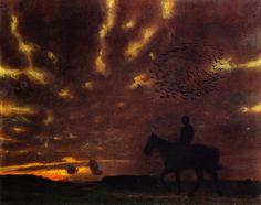 Franz von Stuck (German, 1863-1928), Herbstabend [Autumn evening], 1893. Städtische Galerie im Lenbachhaus, Munich.