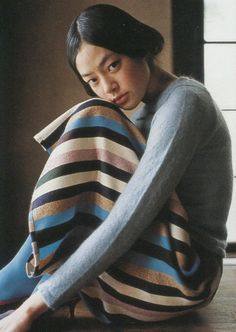 "shoulderblades: ""mohair t-shirt and multistripe skirt, minä perhonen autumn/winter 2000 sample: 100 fashion designers - 010 curators "" Foto Portrait, Vogue, Japanese Girl, Editorial Fashion, Beautiful People, Winter Fashion, Fashion Photography, Stripes, Thing 1"