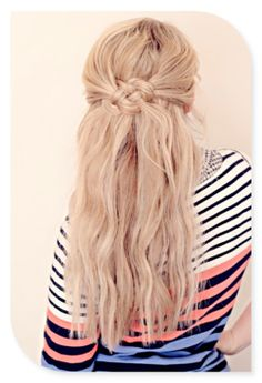 Cool half up do, maybe with more curl for a bride or bridesmaid.