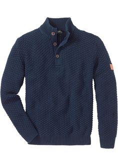 Πουλόβερ regular fit Μπλε σκούρο John Baner JEANSWEAR   29.99 €   bonprix Outfit, Men Sweater, Shirts, Fitness, Sweaters, Style, Note, Jeans, Kids Clothes
