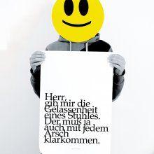 Poster TypoPrint Gelassenheit