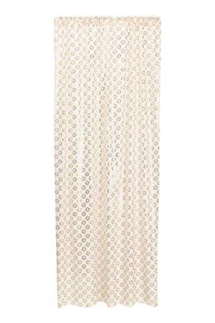 Patterned curtain length - White/Gold - Home All | H&M CA 1