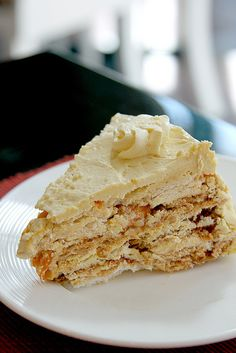 Kitchen's Best Mango Sansrival. Four layers of cashew meringue layered with real mango buttercream and freshly sliced mangoes covered with pure buttercream icing. (Kitchen's Best Home Patisserie)