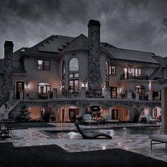 Dream House Interior, Luxury Homes Dream Houses, Dream Home Design, My Dream Home, Luxury Bedroom Design, Küchen Design, Dream Rooms, Luxurious Bedrooms, Black House