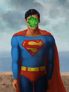 Superman + Kryptonite : Pop Culture Paintings inspired by Rene Magritte's Son of Man Rene Magritte, Superman Love, Superman And Lois Lane, Batman, Dc Comics, Famous Artwork, Fanart, The Son Of Man, School