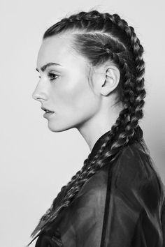 Fantastic braids on gorgeous brunette.
