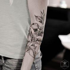Coffee plant botanical tattoo byb Diana Severinenko part 2