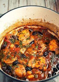 Nicoise stew preparation
