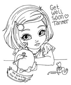 """Part of the Holidays and Special occasions Cutie Pie Serie *Yes you can delete the following text if you wish :""""Get well soon Tanner* This lineart was made for Tanner, a brave little boy who fights..."""