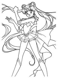 Super ailor Moon Coloring Page // #sailormoon