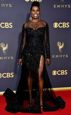 Leslie Jones from 2017 Emmys Red Carpet Arrivals  In Christian Siriano