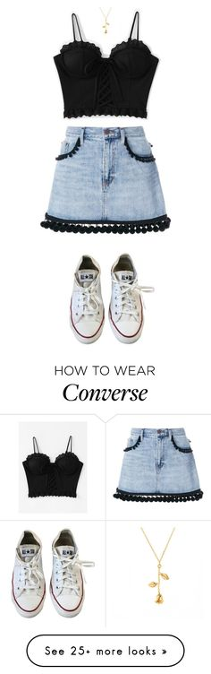 """Untitled #473"" by zahraamuhee on Polyvore featuring Marc Jacobs and Converse"