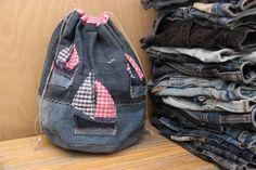 Denim storage bag , recycled upcycled denim bag , handmade storage bag , sailing ocean sea theme , drawstring bag , sailing boat , yacht by SecondBirthday on Etsy https://www.etsy.com/listing/478522028/denim-storage-bag-recycled-upcycled