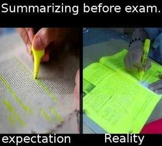 Highlighting expectation vs. reality