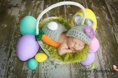 Crochet Bunny Rabbit Hat and Diaper Cover Set- Newborn Photography Prop- Baby Girl Bunny Hat- Baby Boy Bunny Hat- Shower Gift. $50.00, via Etsy.