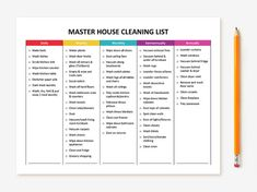 the ultimate house cleaning checklist printable pdf me pinterest checkliste reinigen und. Black Bedroom Furniture Sets. Home Design Ideas