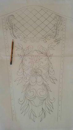 Hand Embroidery Design Patterns, Hand Work Embroidery, Embroidery Flowers Pattern, Embroidery Motifs, Paper Embroidery, Bead Embroidery Jewelry, Stencil Patterns, Beaded Embroidery, Fabric Patterns