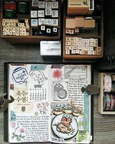 Happiness is a state of mind ❤ #midori #journalwithme #lollalane #midoritravelersnotebook #travelersnotebook #foodie #artjournaling #artjournal #journal #plannergeek #planneraddictmalaysia #手帐 #旅人手帐 #文具 #文房具