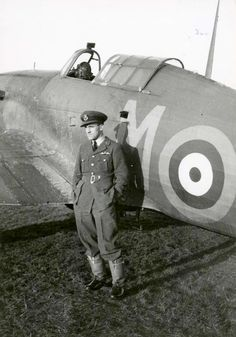 """P/O Karel """"Charlie"""" Mrázek flew with No 46 Squadron RAF on 11 November 1940 when… Ww2 Aircraft, Military Aircraft, Home Guard, Hawker Hurricane, Ww2 Planes, Battle Of Britain, Royal Air Force, Aviators, World War Two"""