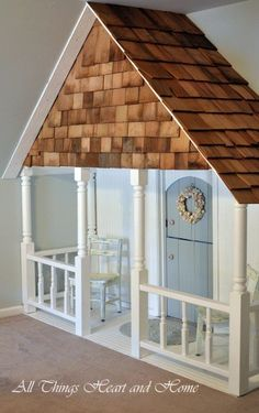 Little Girls' Dream – DIY Indoor Playhouse  GRANDPA needs to make this for his two little princesses!
