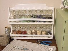 What a cute idea to organize the little things in your sewing room