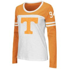 Tennessee Volunteers Colosseum Women's Hornet Long Sleeve T-Shirt - White