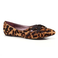 Animal print + flat = shoes I love that won't make me fall!