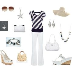 Fun summer ocean inspired look!!!, created by whitnie-evans on Polyvore