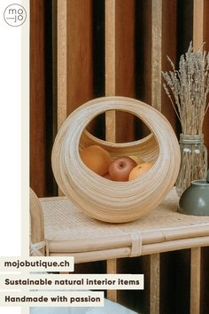 CHF111 ·A unique handmade bamboo basket that you will find nowhere else. This basket for design lovers is an eye-catcher that will give natural style to its place. No need for anything else, just place it in the middle of a table and trendy natural effect is guaranteed! #deconature #decoboheme #mybohovibes #simpleliving #mirror #slowliving #hyggelife #smallmomentsofcalm #aseasonalshift #earthinspiredhome #madecoamoi #decorationinterieure #bohemechic #cosyhome #myeverydaymagic #detailharmonie