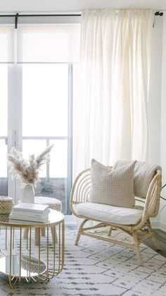 One common improvement that home stagers recommend? Swapping out clunky window treatments for white panels. Tab Top Curtains, Sheer Curtains, Panel Curtains, Brighten Room, Bohemian Living Rooms, Long Walls, White Rooms, White Paints, Window Treatments