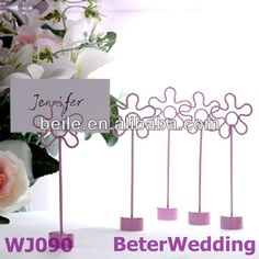 Aliexpress.com : Buy Flora themed Wedding Place Card Holders WJ090 from Reliable Flora Place Card suppliers on Shanghai Beter Gifts Co., Ltd.